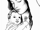 Blessed Mother Coloring Page Catholic Coloring Page Of Baby Jesus and His Mother Mary