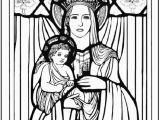 Blessed Mother Coloring Page Christmas Coloring Pages Jesus and Mary