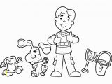 Blues Clues Coloring Pages Birthday Blues Clues Coloring Pages Inspirational Blues Clues Colouring Pages