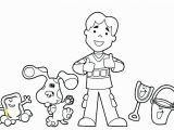 Blues Clues Coloring Pages Blues Clues Printable Free Coloring Library
