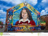 Bobby Sands Wall Mural Bobby Sands Mural Redaktionelles Stockfotografie Bild Von