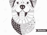Border Collie Coloring Page Rottweiler Coloring Book Stock Vector Illustration Of
