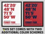 Boston Red sox Wall Murals Printable Boston Red sox Fenway Park Coordinates Wall Art