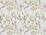 Botanical Tale Floral Wall Mural Swedish Sun Wallpaper Watercolor Spring Fling Wallpaper
