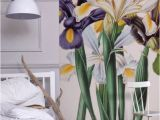 Botanicals Floral Wall Mural Iris Xiphium Mural New York Botanical Garden From £60 Per