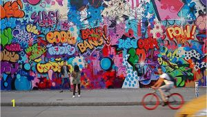 Bowery Mural Wall New York Cope2 Graffiti Art On the Bowery Mural On East Houston