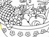 Bowl Of Fruit Coloring Page Awesome Cute Fruit Coloring Pages Gallery
