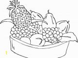 Bowl Of Fruit Coloring Page Free Printable Fruit Coloring Pages for Kids