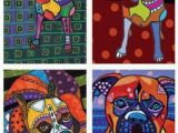 Boxer Dog Coloring Pages 4 Prints Dog Art Boxer Dog Art Gift Set Of by