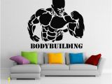 Boxing Wall Murals Bodybuilding Vinyl Wall Stickers Home Art Decoration Gym Wall Decals