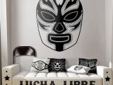 Boxing Wall Murals Luchador 2 Mask Wall Decal Mexican Wrestling Mascara Lucha Libre