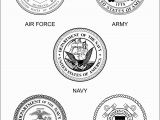 Branches Of the Military Coloring Pages Army Color Clipart