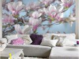 Brewster Home Fashions Komar Wall Mural Ebern Designs Wilhelm Magnolia Wall Mural