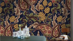 Brewster Home Fashions Victoria Wall Mural Victorian Removable Wallpaper Golden and Blue Wall Mural