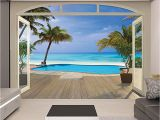 Brewster Home Fashions Wall Mural Love This Paradise Beach Wall Mural by Brewster Home