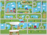 "Brewster Home Fashions Wall Mural Tyngsborough Road Map Peel and Stick 9 83 L X 94"" W Wall Mural"