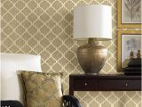 Brewster Home Fashions Wall Murals Palace Beige Quatrefoil Wallpaper From the Alhambra Collection by