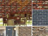 Brick Effect Wall Murals $2 29 Vintage 3d Wall Paper Brick Stone Rustic Effect Self