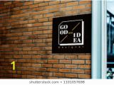 Brick Wall Mural Mockup Psd Logo Stock S & Vectors
