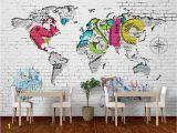 Brick Wall Murals Ideas Beibehang 3d Wallpaper Art Painting Hand Painted Wall Paper