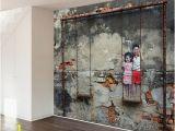 Brick Wall Murals Ideas Swing Set Street Art Wall Mural Decal In 2019