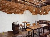 Brick Wall Murals Wallpaper Half Brick Wall and White Wall Art Wall Murals Wallpaper