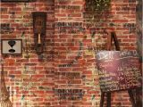 Brick Wall Murals Wallpaper Us $23 22 Off Vintage Imitation Brick 3d Wallpaper Roll Graffiti Art Bar Restaurant Cafe Pvc Vinyl Wall Paper Background Decoration Wallpaper In