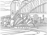 Bridge Coloring Pages for Kids Sydney Opera House and Harbour Bridge Coloring Page
