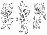 Brittany and the Chipettes Coloring Pages Chipmunk Coloring Pages