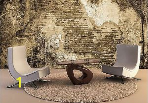 Broken Concrete Wall Mural Shallow Open Sea 3d Wallpaper Mural Wall Paper Background Furniture