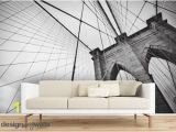 Brooklyn Bridge Black and White Wall Mural Brooklyn Bridge Full Wall Mural Self Adhesive Removable