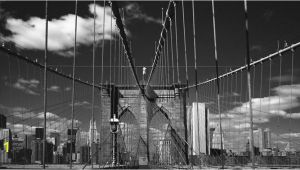 Brooklyn Bridge Black and White Wall Mural Brooklyn Bridge Stein Mural Wallpaper