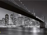 Brooklyn Bridge Black and White Wall Mural Fototapete Brooklyn Bridge Ny 8 Teilig 366×254 Cm