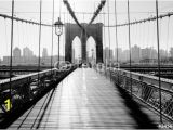 Brooklyn Bridge Black and White Wall Mural Most Brookliński Manhattan nowy Jork Usa In 2019