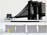 Brooklyn Bridge Black and White Wall Mural Stickerbrand Wall Decals Maps & More Nyc Brooklyn Bridge