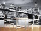 Brooklyn Bridge Black and White Wall Mural Us $17 54 Off Miasto Mody Projektant Fototapety Fototapety Brooklyn Bridge nowy Jork Black & White Wystr³j Pokoju Sypialni Dzieci Sztuka Dekoracji