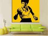 Bruce Lee Wall Mural Hd Print Pop Art Famous Bruce Lee Oil Painting On Canvas Art Kungfu