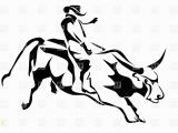 Bucking Bull Coloring Pages Bull Riding Silhouette Of Cowboy and Bull Vector Image – Vector