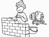 Building Construction Coloring Pages Download Colouring Pages for Kids Occupations