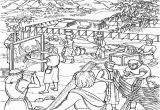 Building the Temple Coloring Pages Moses and the israelites Build the Tabernacle Coloring Page This