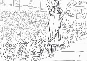 Building the Temple Coloring Pages solomon Prayer In the Temple Coloring Page
