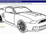Bumper Car Coloring Page ford Mustang Perspective Coloring Page
