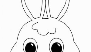 Bunny Mask Coloring Page Bunny Mask