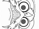 Bunny Mask Coloring Page Owl Cute Printable Halloween Animal Paper Masks Mask