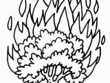 Burning Bush Coloring Page Burning Bush Coloring Page