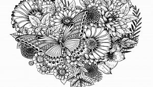 Butterflies and Flowers Coloring Pages for Adults Flowers & butterfly Flowers Adult Coloring Pages