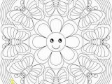 Butterfly Mandala Coloring Pages butterfly Rainbow Mandala to Color