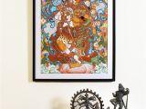 Buy Mural Paintings Online Buy Ardhanarishwara Kerela Murals 19 6in X 14in Line