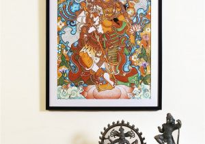 Buy Mural Paintings Online Buy Ardhanarishwara Kerela Murals 19 6in X 14in Line