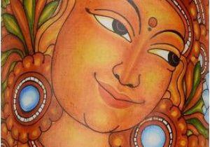 Buy Mural Paintings Online Buy Lady with Lotus Bamboo Mural Painting Wall Art Line
